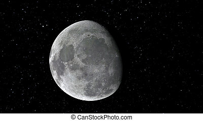3d illustration of the Moon. Elements of this image...
