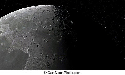 3d illustration of the Moon. Elements of this image furnished by NASA