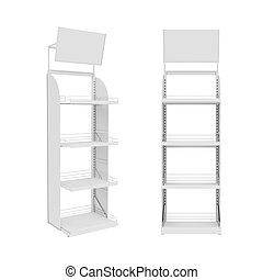 stand Isolated on White Background, 3D rendering,...