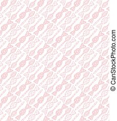 Seamless candy and spoon background pattern in vector. Endless texture.
