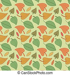 Vector leaves seamless pattern. Foliage background.