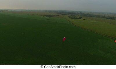 Paraplane take off aerial 4k - Paraplane take off aerial...