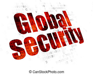 Privacy concept: Global Security on Digital background