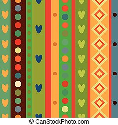 Bright Colorful seamless stripes pattern. Abstract vector...