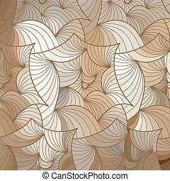 Vector wave background of doodle hand drawn lines - Abstract...