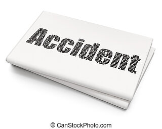 Insurance concept: Accident on Blank Newspaper background -...