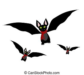 Bats set icon. Vector illustration. Vector illustration