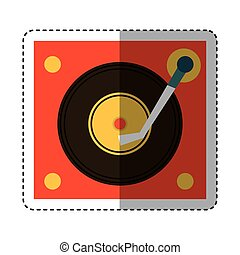 long play player retro music icon vector illustration design