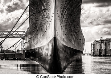 Wisky (Sepia) - Wisky was the nickname of the USS Wisconsin...