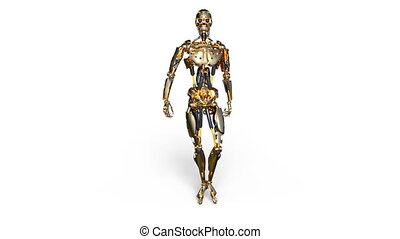 Walking robot - 3D CG rendering of a walking robot.
