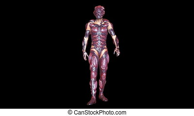 Walking mutant man - 3D CG rendering of a walking mutant...