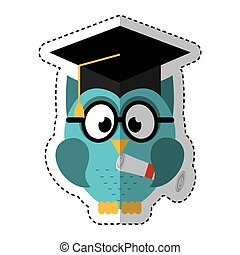 owl with graduation hat