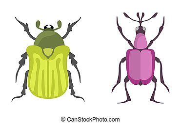Insect icon flat isolated vector illustration. - Insect icon...