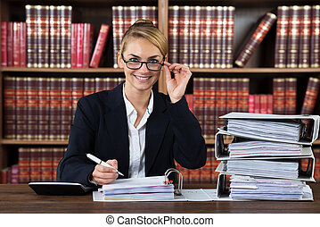 Successful Female Accountant