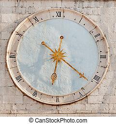 Trogir tower clock