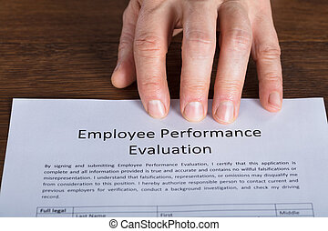 Close-up Of A Performance Evaluation Form