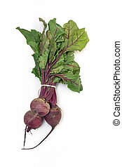 Fresh beetroot bunch - Fresh farm beetroot bunch on white...