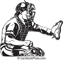 Baseball catcher clipa...