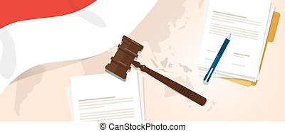 Indonesia law constitution legal judgment justice...