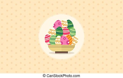 Illustration vector of easter egg collection