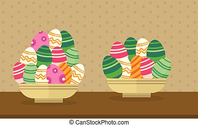 Collection easter theme with egg