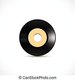 Vinyl disc 7 inch EP wide hole with shiny grooves - Vinyl...