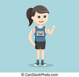 female marathon runner color
