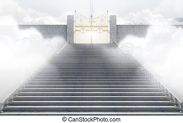 Heavens Gates - A concept depicting the majestic pearly...