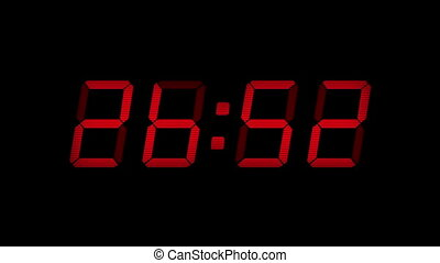 30 Second Digital Countdown Display - Digital timer display...