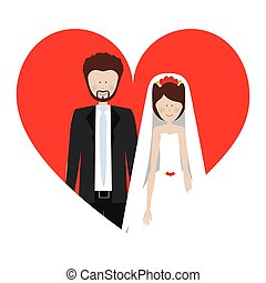 people married couple icon image, vector illustration