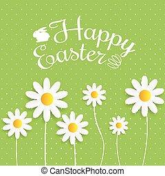Happy Easter Spring Holiday Background Illustration EPS10