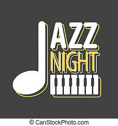 Jazz night musical poster vector template