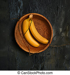 The group of bananas - The group of fresh bananas on on a...