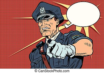 Vintage police officer COP arrests. pop art retro comic book...