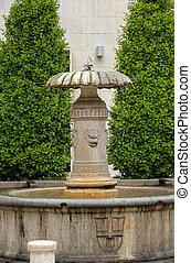 A small fountain in Piazza delle Erbe in Verona. Italy