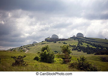 Landscape with the Crimean Astrophysical Observatory near...