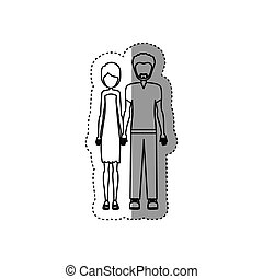 people couple together icon image, vector illustration