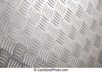 Steel Tread Plate for Backgrounds - Shiny steel or alloy...