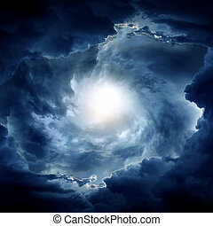 Whirlwind in the Clouds - Light in the Dark and Dramatic...