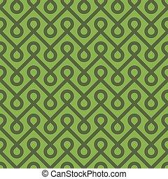 Greenery Linear Weaved Seamless Pattern. Neutal tileable...