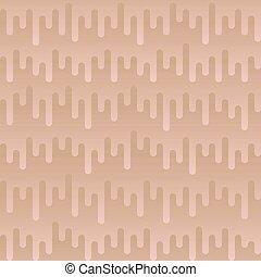 Waveform Irregular Rounded Lines Seamless Pattern. Beige...