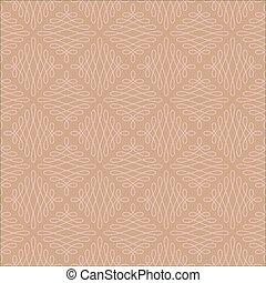 Neutral Seamless Linear Flourish Pattern. - Neutral Seamless...