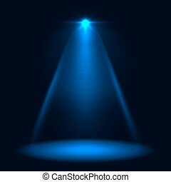 Abstract blue stage spotlight vector background. Layered...