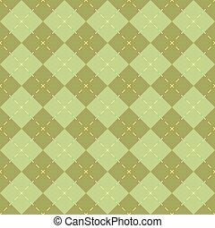 Seamless green diamond shape vector pattern.