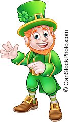 Saint Patricks Day Leprechaun - Cartoon Leprechaun St...