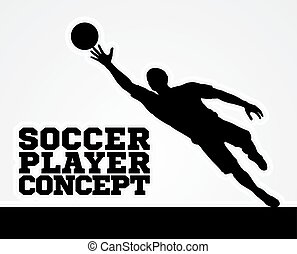 Concept Silhouette Soccer Football Player - A stylised...