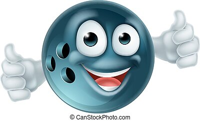 Cartoon Bowling Ball Character