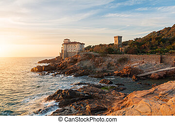 Boccale castle the sea near Livorno in Tuscany region in...