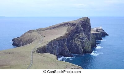 Beautiful Neist Point, thin spit of land with famous...