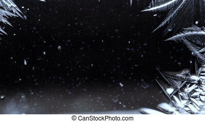 abstract background freezing dew surface - abstract...